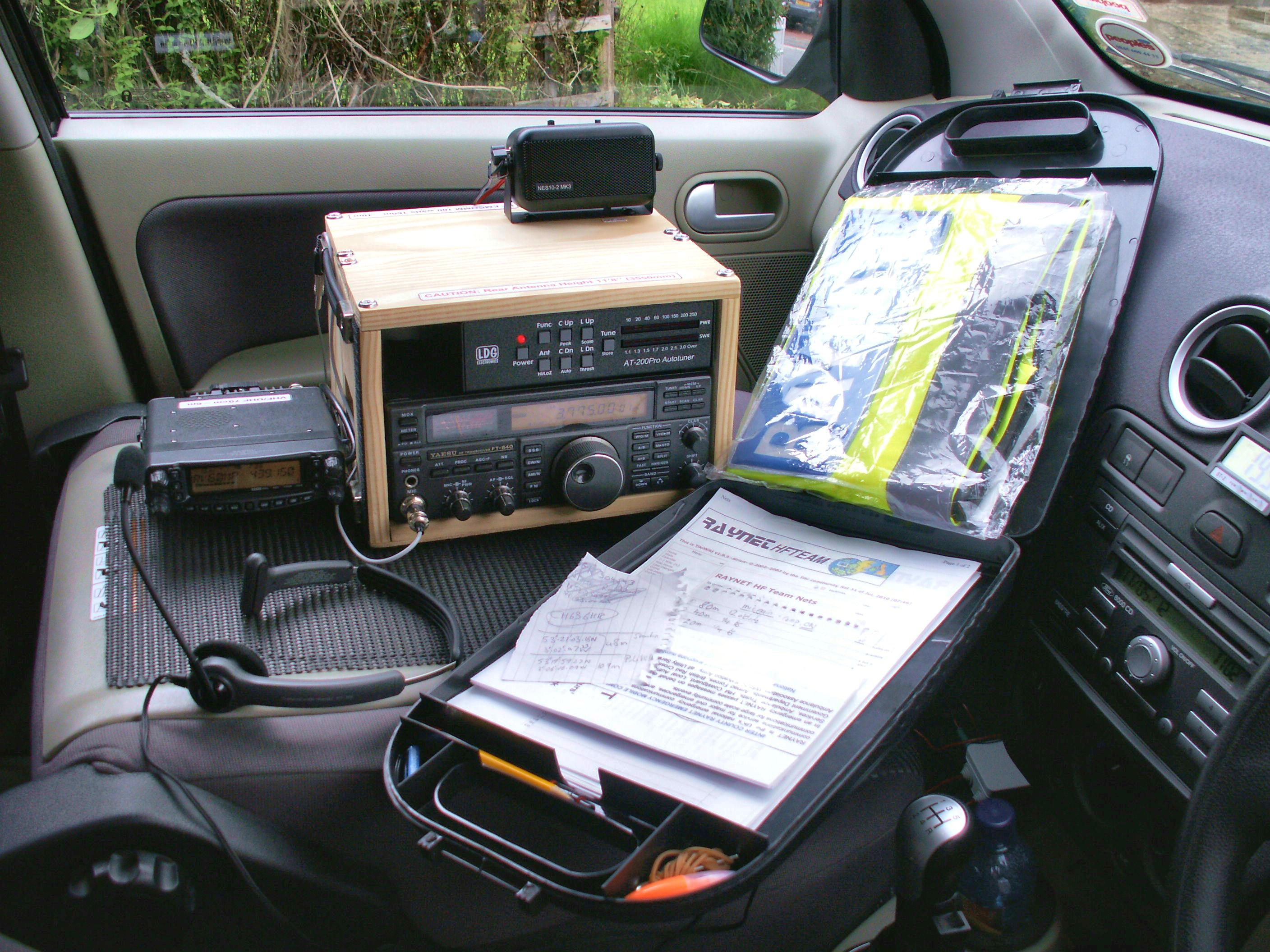 Radios and clipboard